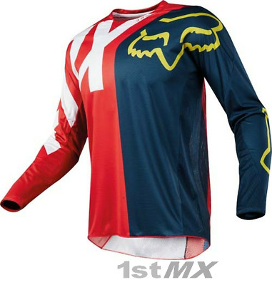 Fox Racing 360 Preme Navy Red Offroad MX Motocross Race Jersey Adults Small