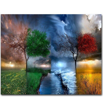 DIY Paint By Number Kit Digital Oil Painting Art Natural Scenery Wall Home Decor