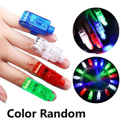 10Pcs Fashion  LED Light Up Flashing Glowing Finger Rings Glow Party Kids Toys