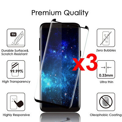 For Samsung Galaxy S9 S8 Plus Case Friendly Real Tempered Glass Screen Protector
