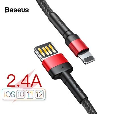 Lightning USB Cable Fast Charger Data Sync 2M For iPhone XS Max XR 8 7 6s Plus
