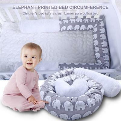 Elephant Pattern Baby Infant Cot Crib Bumper Toddler Bed Pillow Safety Protector