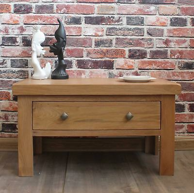 Brock Coffee Table Storage With Large Drawer Modern Solid Oak Furniture