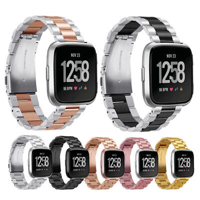 Replacement Stainless Steel Metal Bracelet Wristband Strap Band For Fitbit Versa