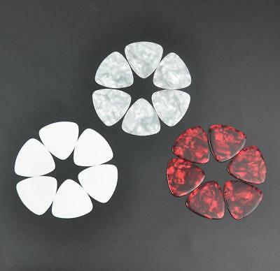 100pcs Heavy 0.96mm Rounded Triangle Guitar Picks Plectrums Celluloid 3 Colors