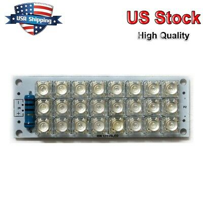 Electronic Components & Supplies 5pcs 12v Led Panel Board 42 Piranha Led Energy Saving Panel Light Board White Consumers First Integrated Circuits