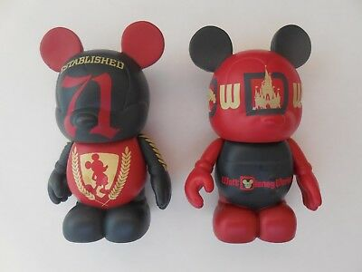 """Disney 3"""" Vinylmation WDW 40th Anniversary ~ Retro and 71 Cast Chaser"""