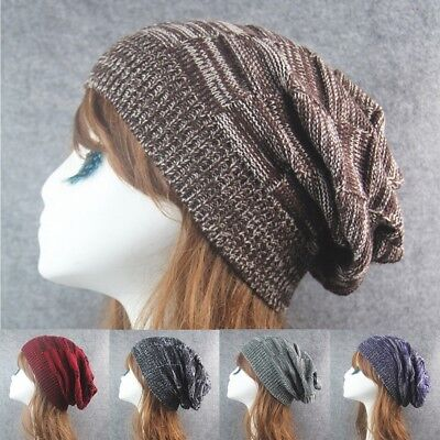 e4047a2a554 Oversized Men Women Baggy Beanie Winter Hat Ski Slouchy Chic Knitted Cap  Skull