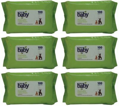 6 Packs x 100 Tesco Disposable Nappy Liners = 600 In Total