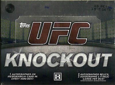 2010-2011 Topps Ufc Knockout Factory Sealed Hobby Box