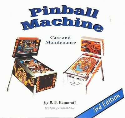 Pinball Machine Care and Maintenance Manual and Repair Guide Book- Free Shipping