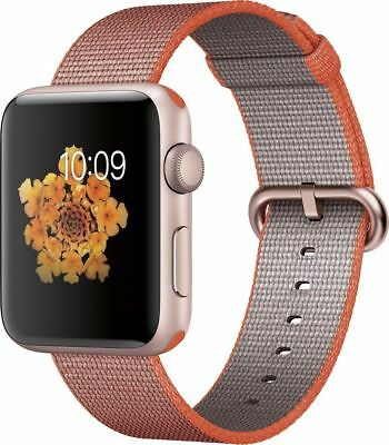 Genuine Woven Nylon Apple Watch Band - 42MM Space Orange/Anthracite - OEM