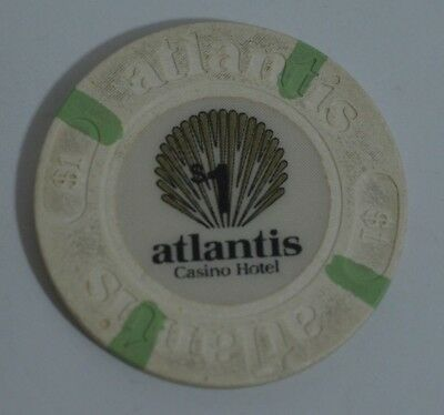 Atlantis Atlantic City $1 Casino Chip - Atlantis Hotel & Casino - Atlantic City