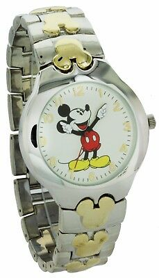 New Disney in Original  Box Mickey Mouse Watch two tone Band