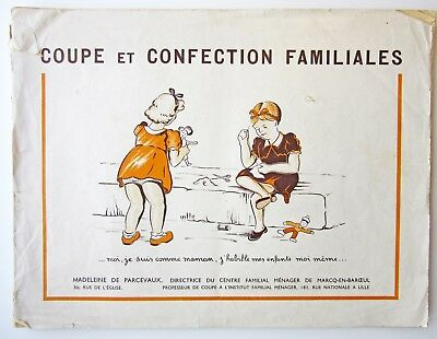Rare French Sewing Pattern Drafting Book Children's Clothing Coupe et Confection