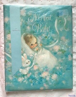 Vintage Hallmark Baby Book~Blue~Unisex~With No Writing~Dated 1969