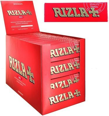Rizla Red Single Medium Weight Smoking Cigarette Tobacco Rolling Papers Packs
