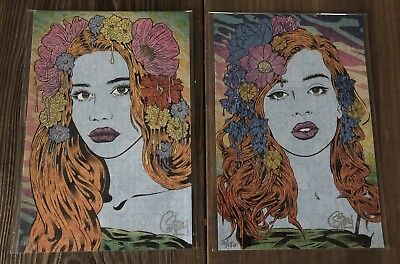 Chuck Sperry The Oracle & The Seer 2 Print Set Blotter Art S/N Matching Ed 150