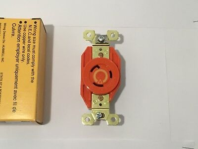 Hubbell IG2310A Twist-Lock HBL Receptacle 2 Pole 3 Wire 20A 125VAC Lot of (4)