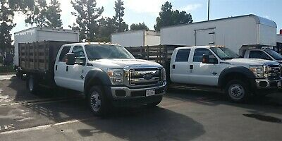 FORD F550 Flatbed Truck crew cab stake bed studio liftgate 4x4 gmc chevy 350 450