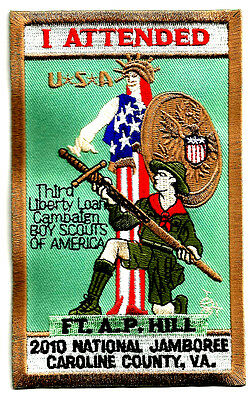"2010 NJ National Jamboree "" I ATTENDED "" 3.5""x6"" PATCH -Vintage Boy Scout"