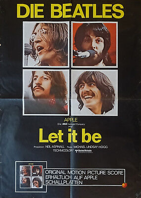 Beatles affiche originale Let it be 1970 Germany 83 X 59 cm