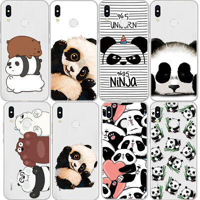For HUAWEI P8 P9 P10 Mate10 Lite P20 Pro Soft Silicone Cartoon Cover Case Panda