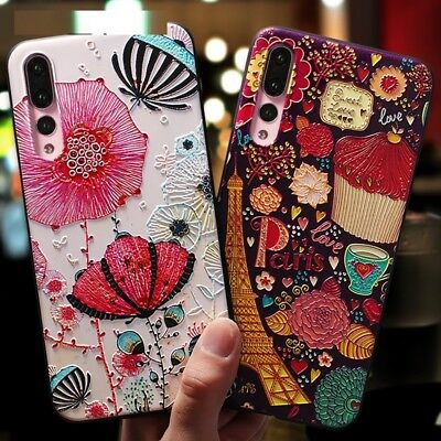 Ultra thin TPU Cute Cartoon Patterned Phone Case For Huawei P20 P9 Lite Honor 8