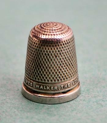 HG & S Sterling silver Thimble JAMES WALKER THE LONDON JEWELLER Chester N/Res