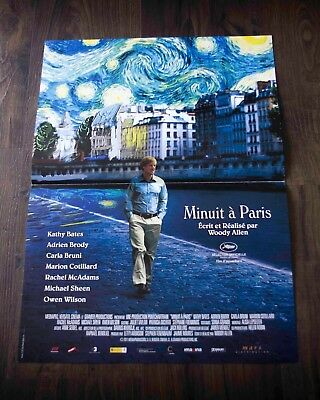 MIDNIGHT IN PARIS Movie POSTER 27 X 40 In Deluxe Wood Frame