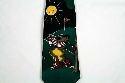 Hallmark Specialties Mens Golf Necktie Hole In One Sports Novelty 60 In   t11
