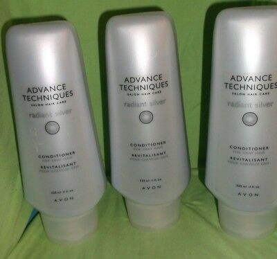 Avon Advanced Techniques Radiant Silver Conditioner for Gray Hair Lot of 3