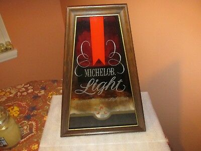 """MICHELOB LIGHT BEER Sign/Mirror """"Superior taste in a Light Beer"""" (VERY NICE)"""