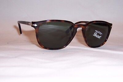 935bab303a NEW Persol Sunglasses PO 3019S 24 31 HAVANA GREEN 52mm AUTHENTIC 3019