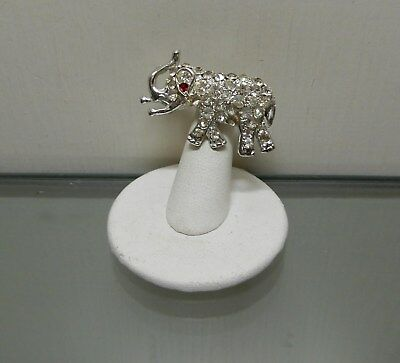 """Vintage Elephant Pin Brooch Welcomes You w/ Trunk Up For Good Luck 1 1/2""""L x 1""""H"""