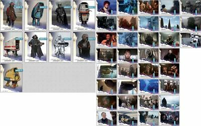 SOLO SELECTS CONCEPT ART +SCENES COMPLETE SET OF 44 Topps Star Wars Digital Card