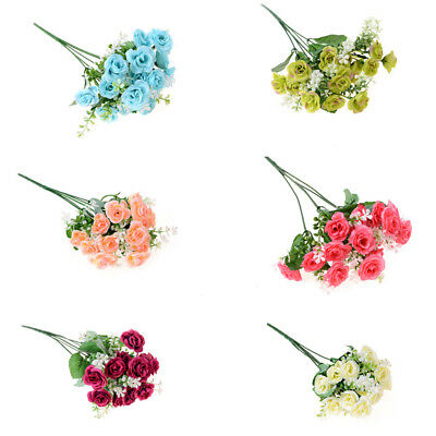 15Head Real Latex Touch Rose Flowers For wedding And Home Design Bouquet Decor P