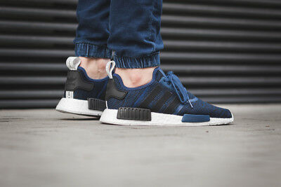the best attitude b540b dc67b Adidas NMD R1 Mystery Blue Nomad Collegiate Navy New Men Size 10.5 (BY2775)