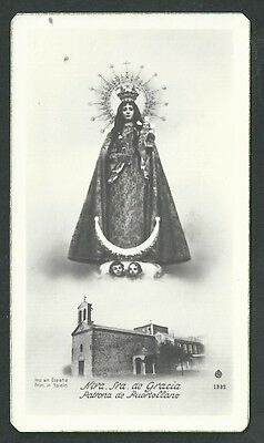Estampa antigua Virgen de la Gracia andachtsbild santino holy card santini