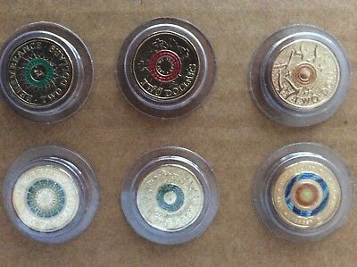 2018 fr 30th anniversary of $2 coin set. Green red orange & later 6 coins in all