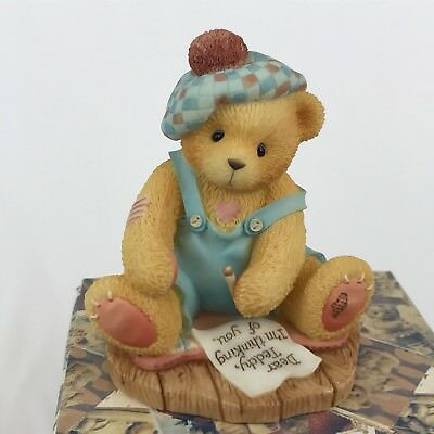 Cherished Teddies Kyle 476390 Far Apart Have Place in My Heart Bear Thinking You