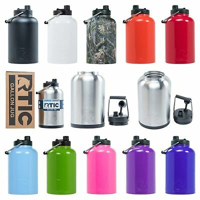 803bb04970b RTIC ONE GALLON Insulated Water Bottle / Jug Rambler, Stainless Steel