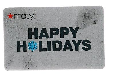 Macy's collectible gift card no value mint #58 Happy Holidays