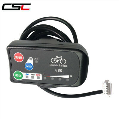 LED880 36V 48V Electric Bicycle Display e bike Controller LED Bike Panel ebike