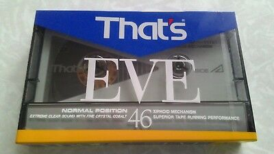 THATS EVE 46. vintage audio cassette blank tape sealed.