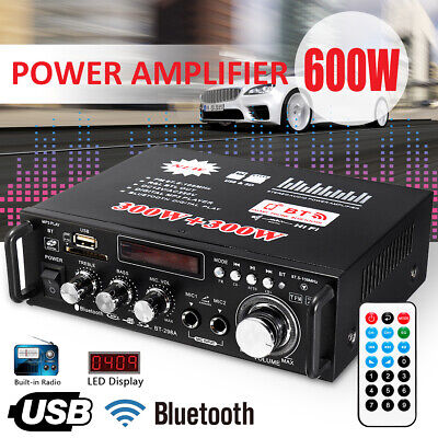 600W digitale HIFI Stereo Bluetooth Audio amplificatore AMP SD USB FM Mic Car Ho