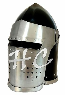 Medieval Barbute Helmet Armour Crusader Roman knight helmets with Inner Liner