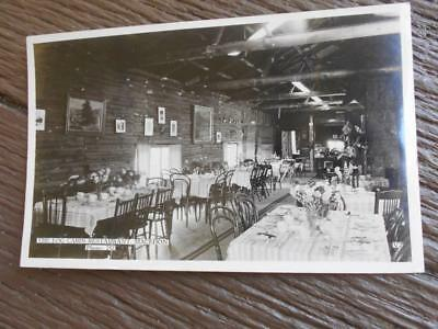 C 1950 's The Log Cabin Restaurant Macedon Victoria real photo postcard