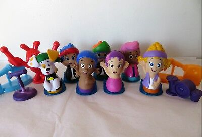 NICKELODEON BUBBLE GUPPIES Rock Roll & Go Figures Lot Racers Toys Fisher  Price