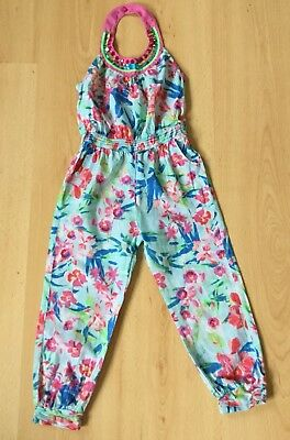 Monsoon Girls Jumpsuit Age 4 Summer Trousers All in One Holiday Casual Sequin